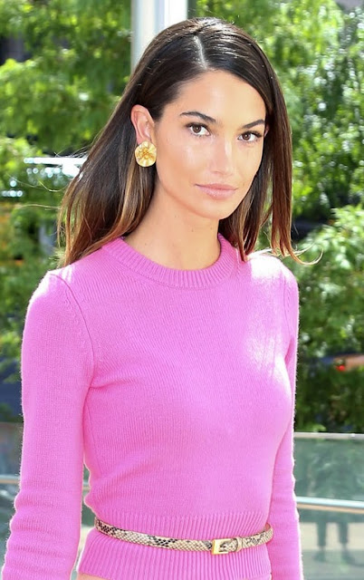 Lily Aldridge Attends Luncheon
