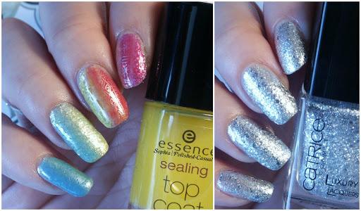 Glitter Rainbow Nails