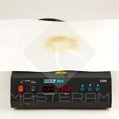 Область обогрева преднагревателя плат Quick 854