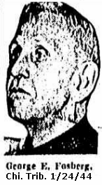 News clipping showing 3/4 profile headshot of an elderly white man with short hair