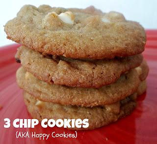 3 Chip Cookies (aka Happy Cookies)