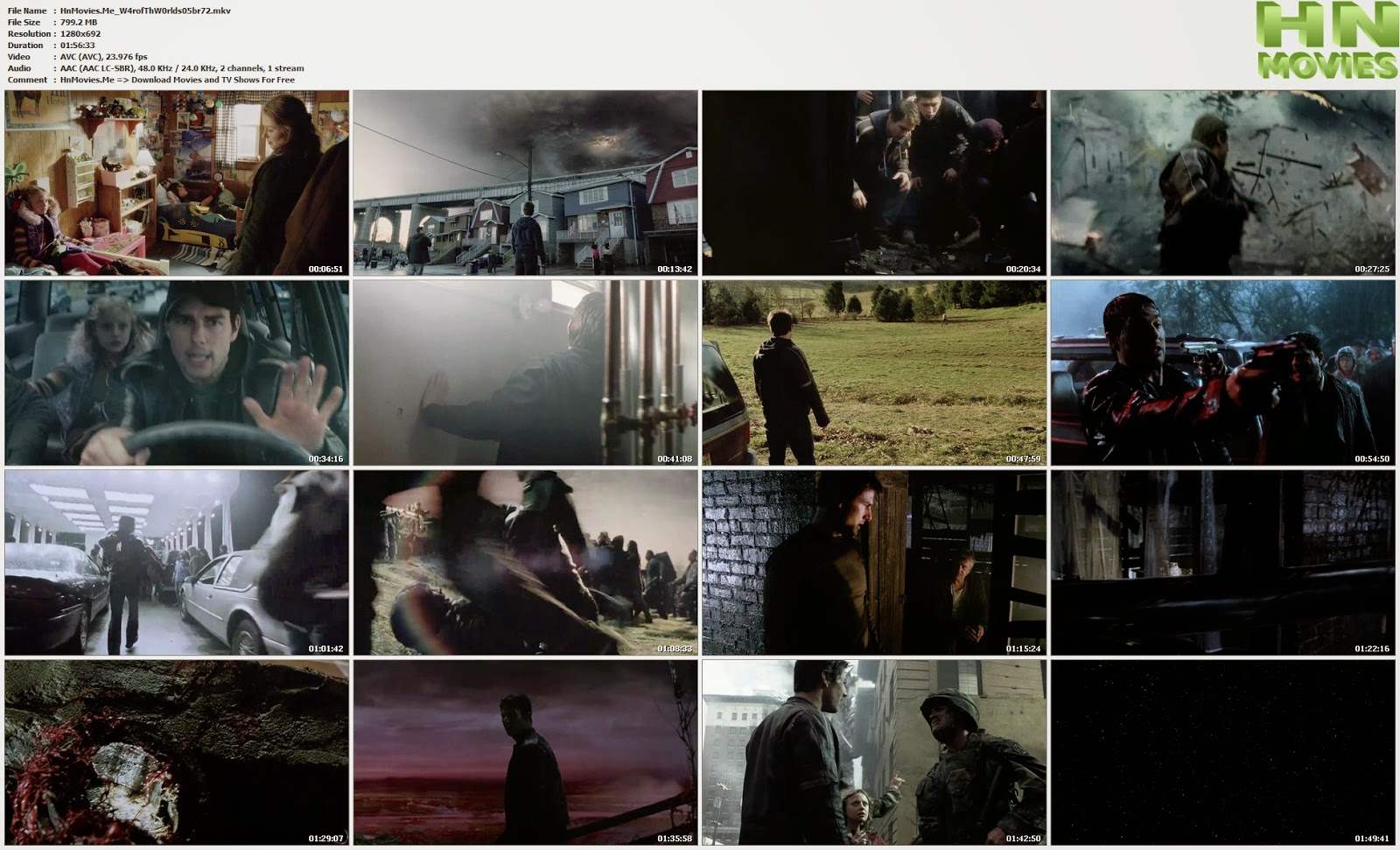 movie screenshot of War of the Worlds fdmovie.com