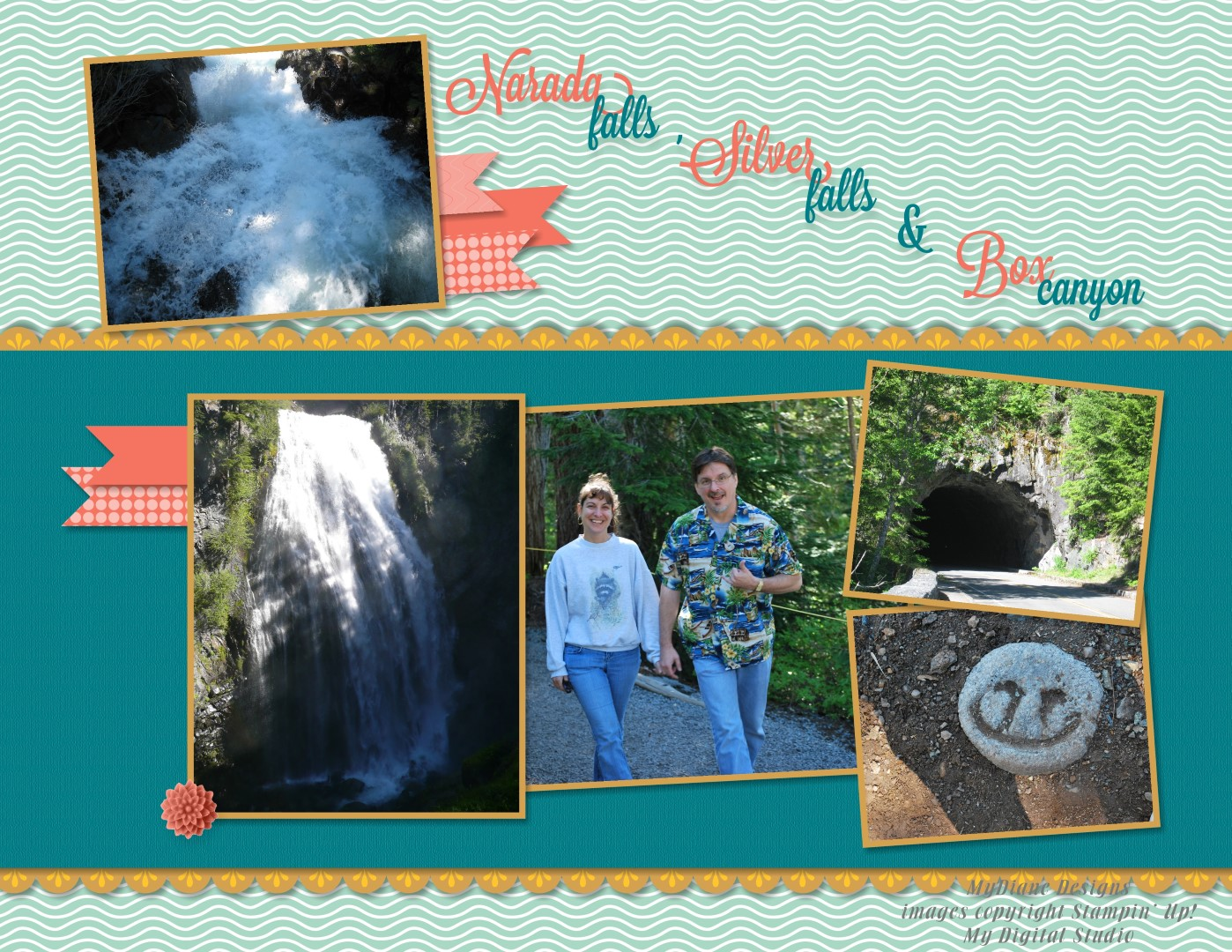 Mydiane designs waterfalls and canyon for Waterfall design in scrapbook