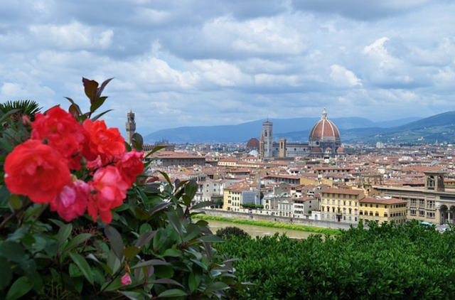 spectacular view of florence city italy