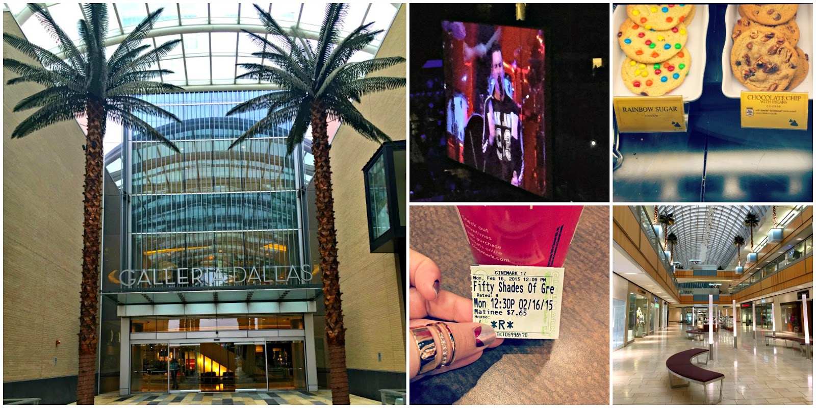 A day in Dallas, Maroon 5 concert, Dallas Galleria, Fifty Shades of Grey!