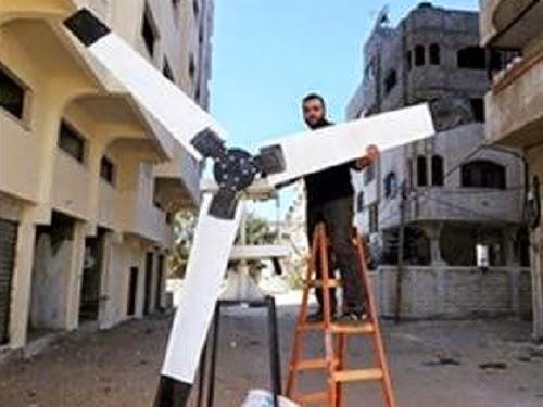 Kincir angin untuk pembangkit listrik Gaza (InfoPalestina.com)