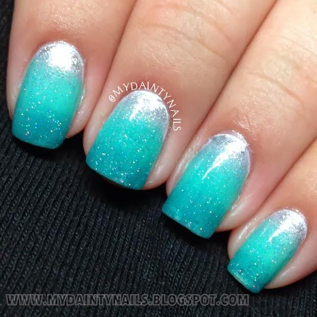 dainty nails seafoam green
