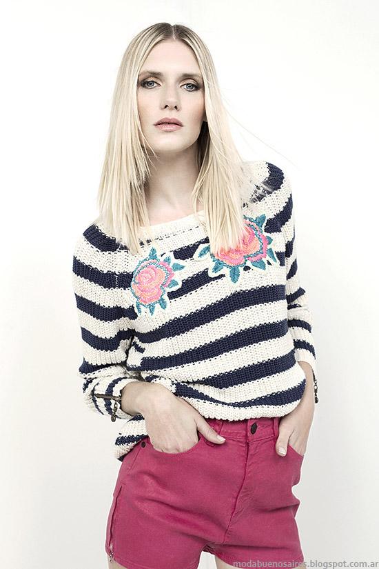 Sweaters tejidos de hilo Kosiuko 2015.