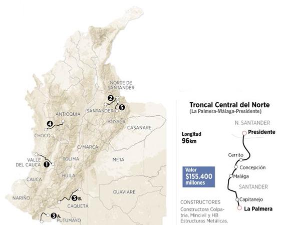 Para la Troncal Central del Norte: MINTRANSPORTE ANUNCIÓ NUEVA LICITACIÓN POR $155 MIL MILLONES