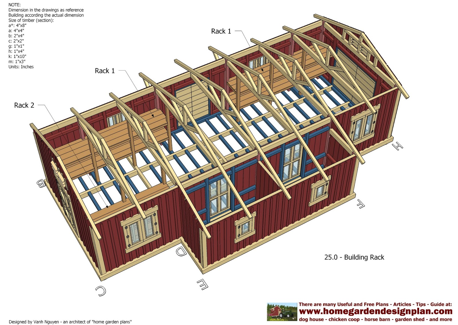 Rapo More 12x16 Gable Shed Plans Free