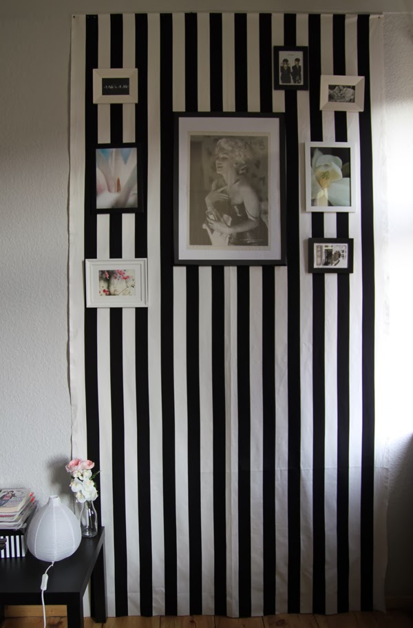 ... und Einrichtungszeug.: Roomtour Update - schwarz-weiß-gestreifte Wand