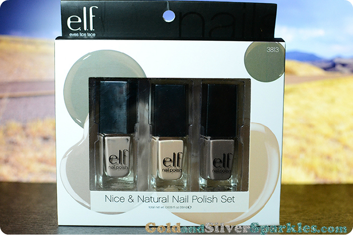 elf nice & nude natural nail polish set