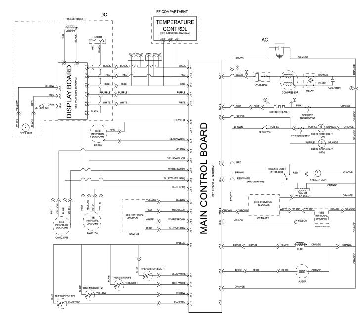 wiring diagrams for ge refrigerator  yhgfdmuor, Wiring diagram