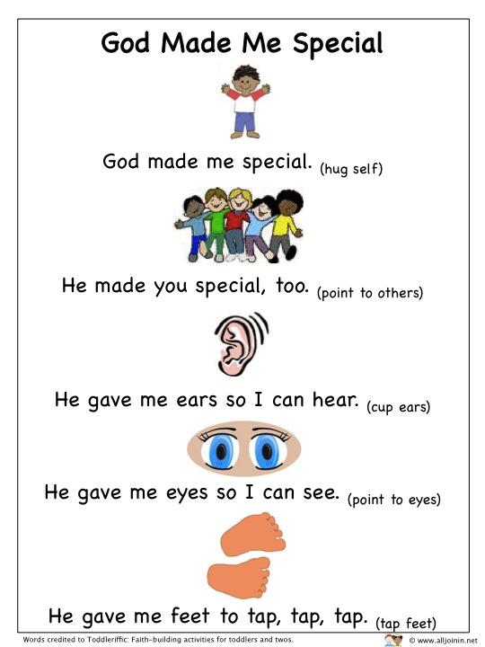 Special School Worksheets : Alljoinin god made me