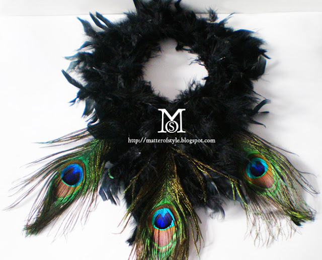 diy, feathers diy,feather collar,peacock feather collar, peter pan collar diy, carnival costume, costume, masquerade ball, jewelry diy, fashion diy,do it yourself