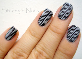nokti slike crno beli motivi 003