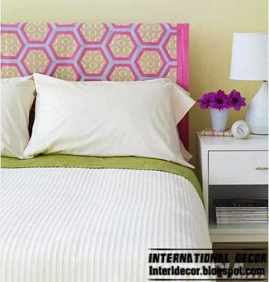 pink headboard, king size headboard, creative headboard designs