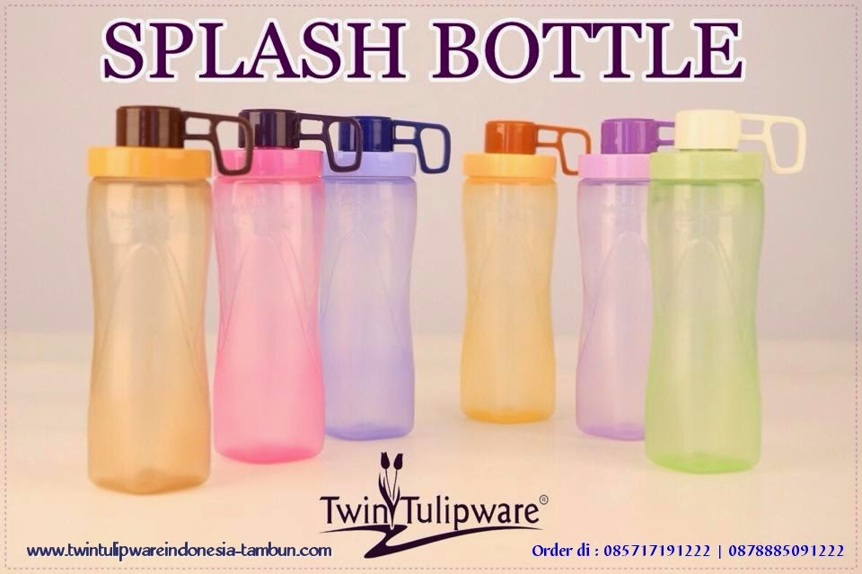 SPLASH BOTTLE 650 ml _ Produk Baru Tulipware in September 2014