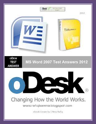 MS Word 2007 Test Answers ebook