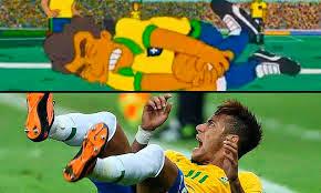 Les Simpsons avaient prédit la blessure grave de Neymar