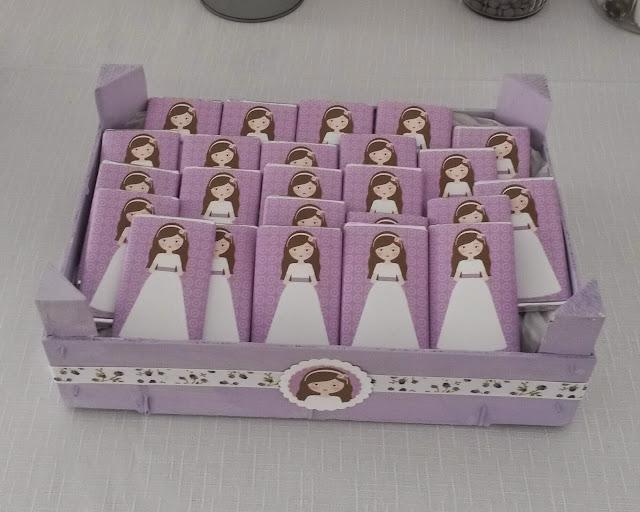 Sweet patch mesa dulce en tonos lilas for Envolver brochetas de chuches