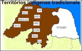 PROVÁVEL LOCALIZAÇÃO (ANTIGA) DOS GRUPOS INDÍGENAS DO RIO GRANDE DO NORTE