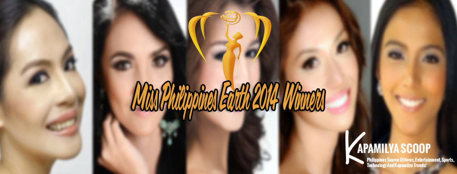 The Miss Philippines Earth 2014 List of Winners
