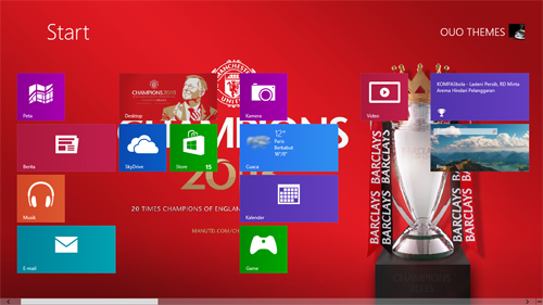 Champions 2013 Manchester United Theme For Windows 7 And 8