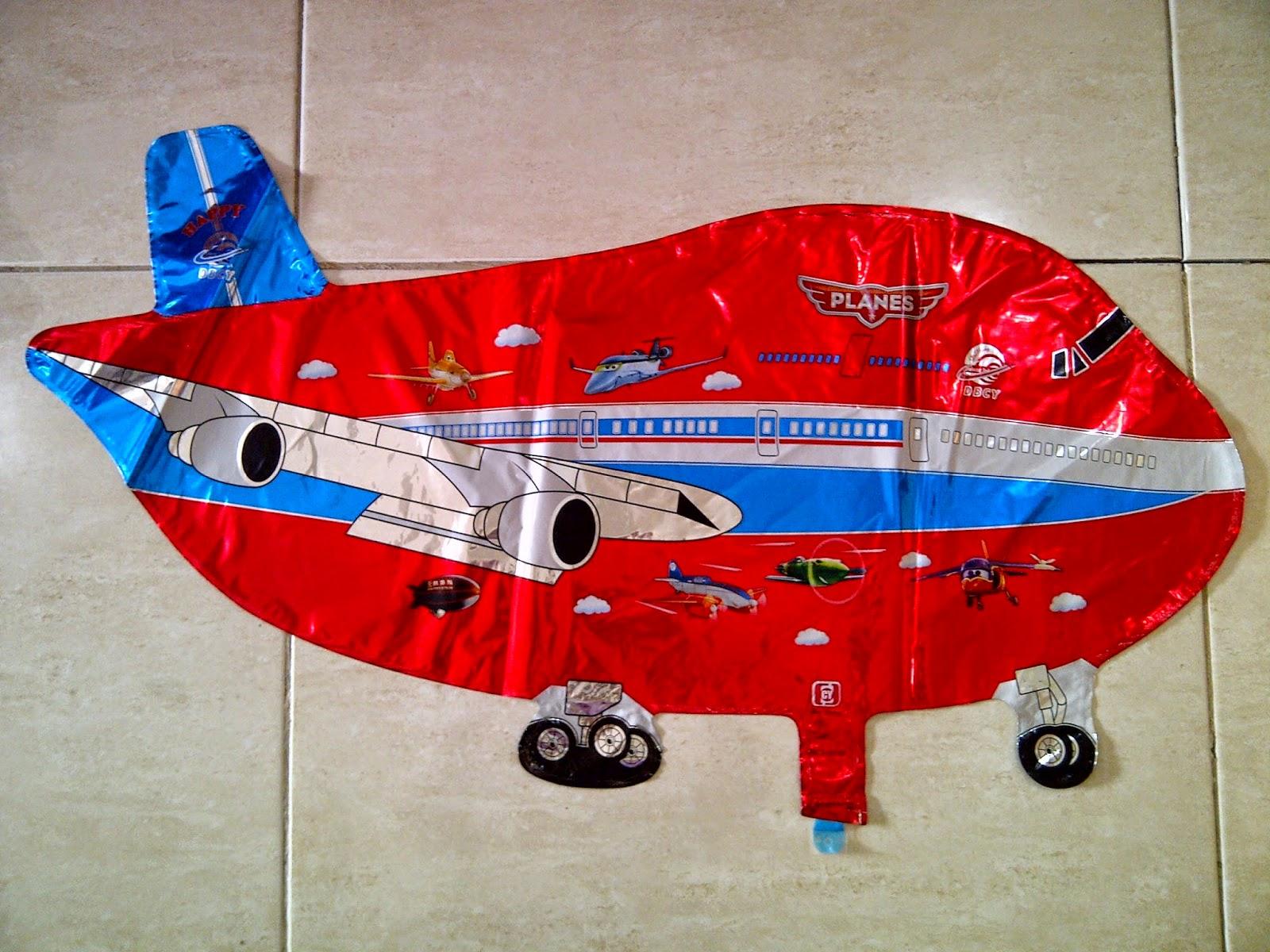 Balon Character Pesawat Baru Metalik Merah Anugerah Utama Toys Mainan