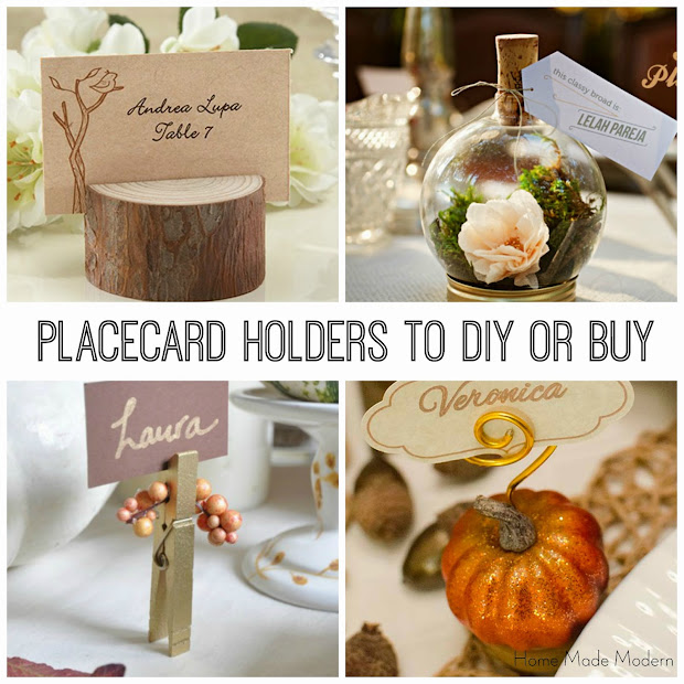 Home Made Modern Craft Of The Week Placecard Holders