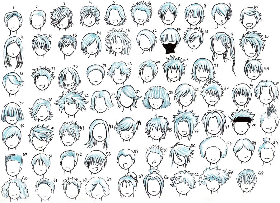 Como Desenhar Mang?: Gabaritos de Cabelos