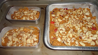 thb ~ #26 ~ cranberry oatmeal walnut (almond) cake