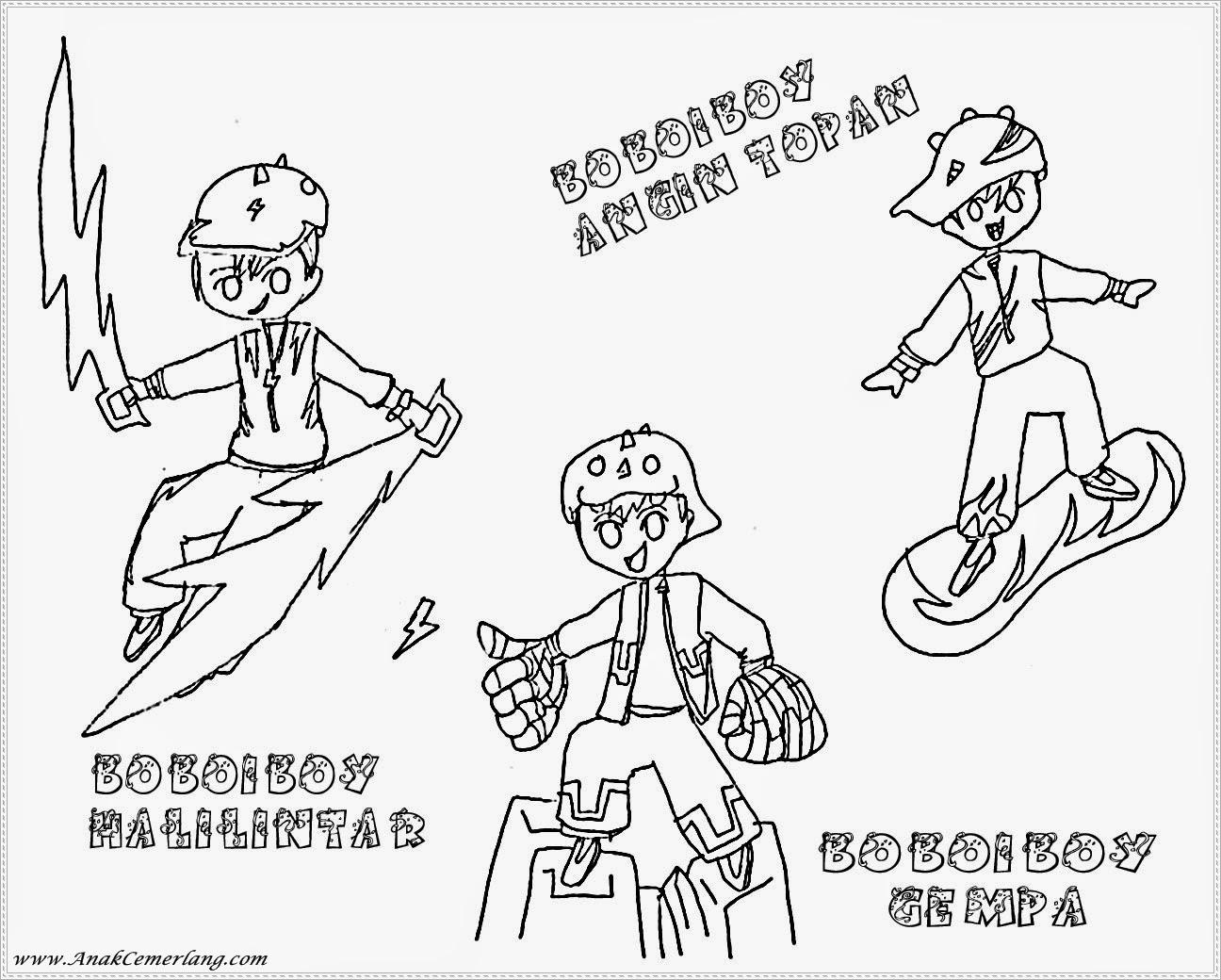 gambar tiga kekuatan boboiboy