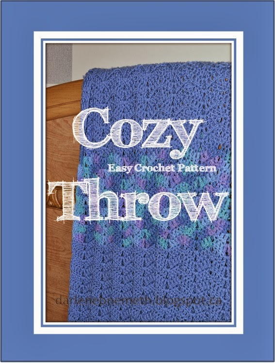 Easy Crochet Pattern - Cozy Throw Blanket