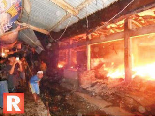Ratusan Kios di Pasar Pagaden Subang Terbakar