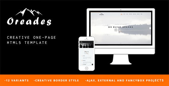 download Oreades - Creative One-Page HTML5 Template