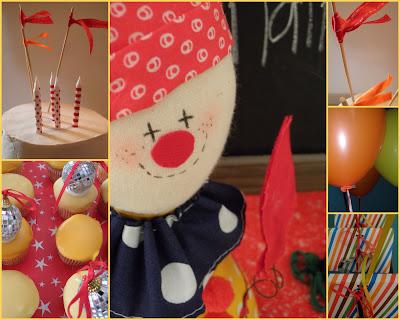 Pierrot Clown Doll. balloons and a clown doll