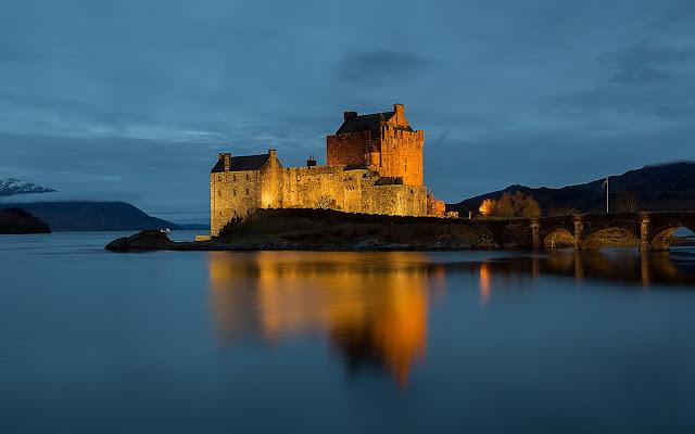 Eilean Donan Castle Lovely Tidal Island Scotland HD Desktop Wallpaper