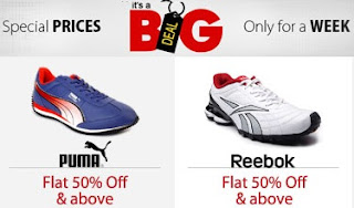 Big Sale on Reebok & Puma Shoes: Get Flat 50% + Extra 25% Discount