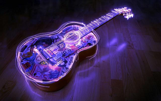Purple Lighted Guitar