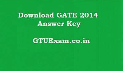 GATE 2014 Answer Key
