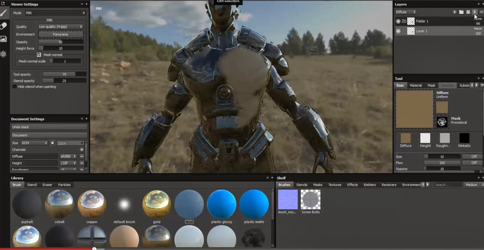 Substance Painter Overview Video CG Daily News