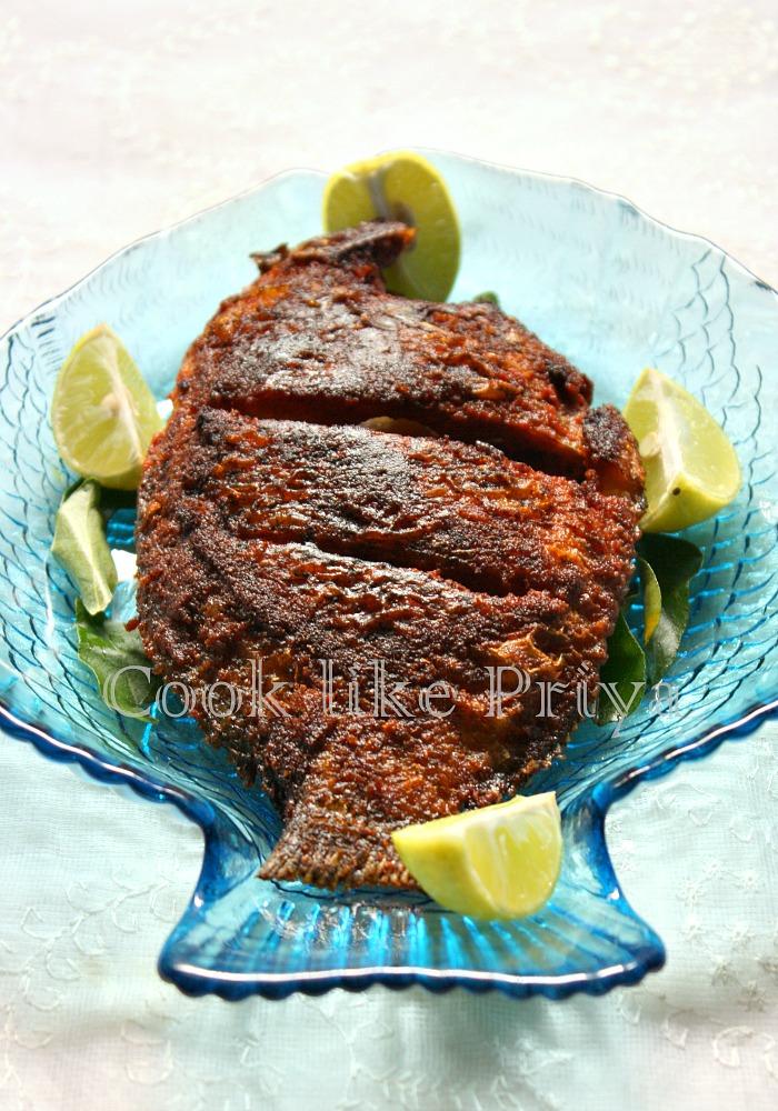 Cook like priya karimeen fry south indian fish fry recipe karimeen fry recipe forumfinder Gallery