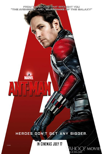 Ant-Man official movie poster, ft. Paul Rudd as Scott Lang