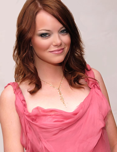 Sexiest Women Alive of November 2012 Emma Stone Sexy in Pink