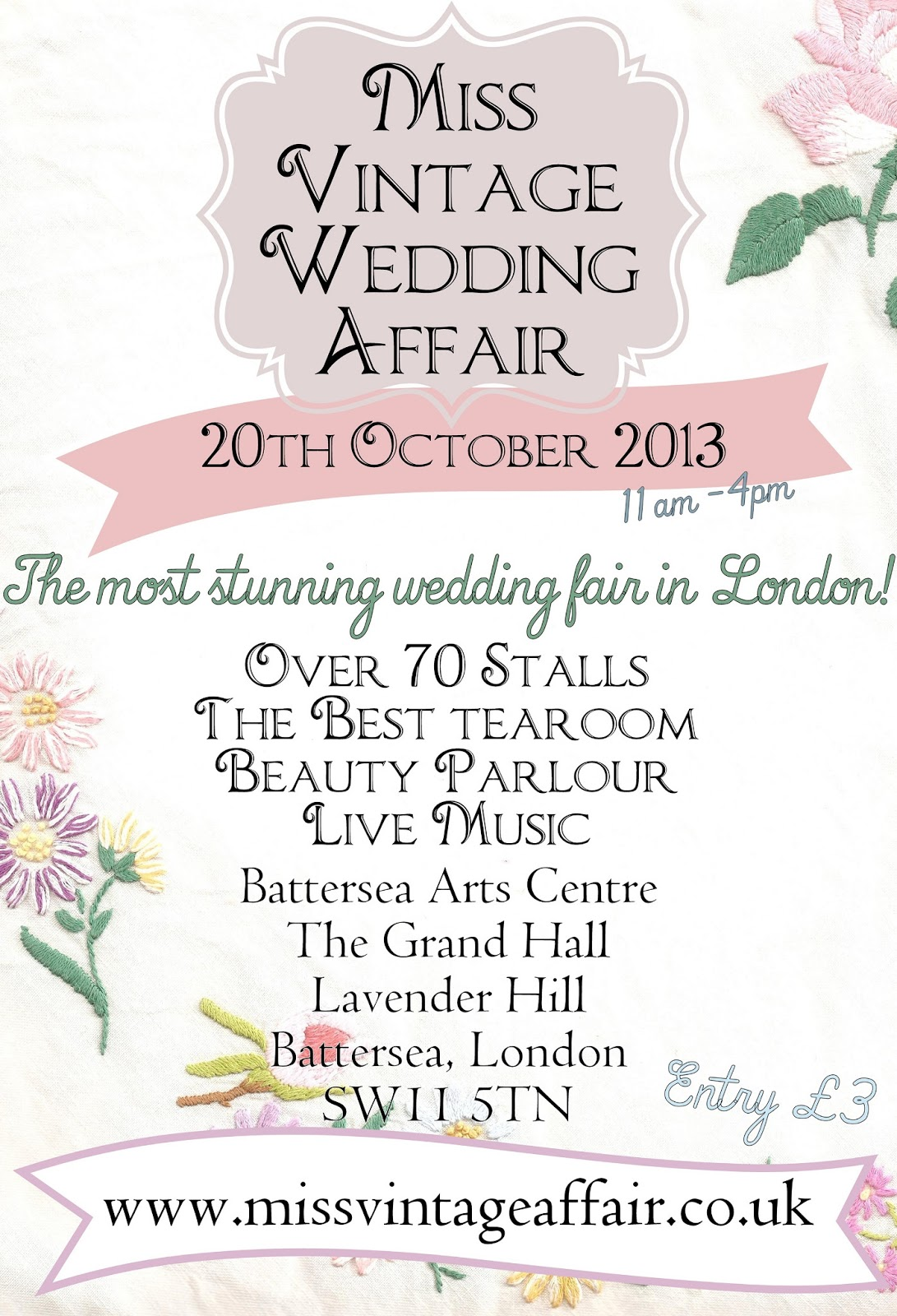 Quirky Vintage Loving Brides Are In For A Treat As The Famous Miss Wedding Affair Returns To London Fourth Run