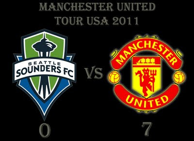 Seattle Sounders v Manchester United 0-7 result man utd tour usa