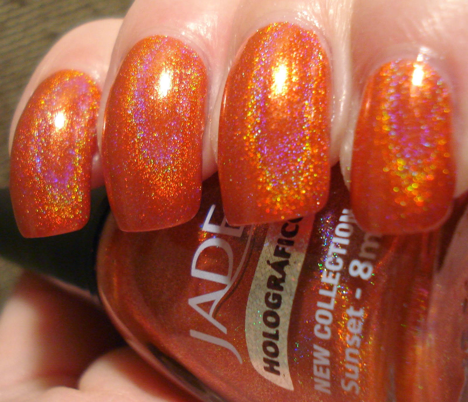 Little Miss Nailpolish: Holothon: Jade Sunset - swatches and review