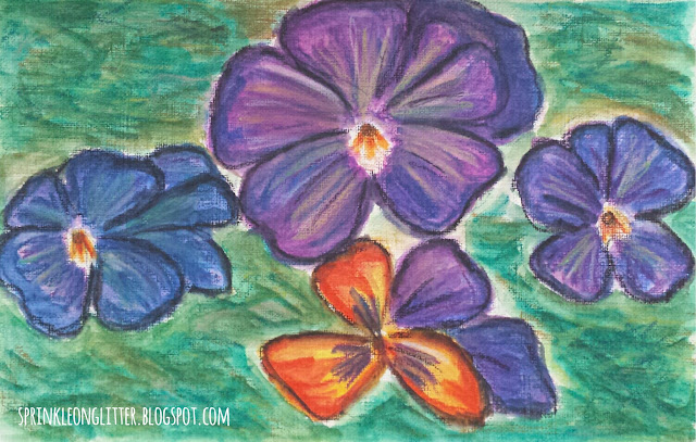 Pansies-watercolor-write 31 days