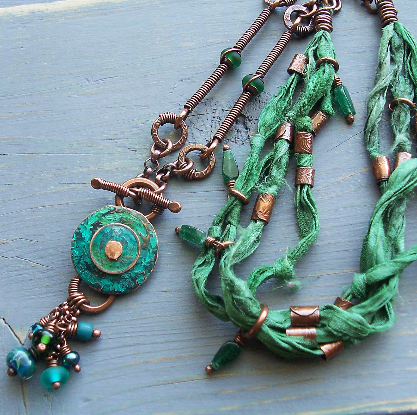 color serenity year the lampwork necklace il fullxfull ribbon p blue tassel lydi jewelry silk glass of